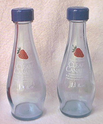 CLEARLY CANADIAN SUMMER STRAWBERRY ADVERTISING SALT AND PEPPER SHAKERS