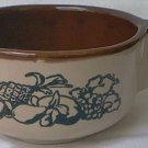 WESTERN STONEWARE SOUP BOWL MUG ~FRUIT DESIGN~CREAM/BROWN