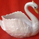 VINTAGE GRACEFUL SWAN CERAMIC PLANTER ~JAPAN ?