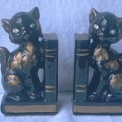 VINTAGE BLACK CAT BOOKENDS ~JAPAN~SPOOKY~JUST RIGHT 4 HALLOWEEN