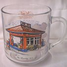 GULF GASOLINE COLLECTOR SERIES GLASS PROMOTIONAL MUG ~1920's Gatsby Era gas station