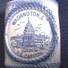 VINTAGE BLUE AND WHITE WASHINGTON D C SOUVENIR TOOTHPICK HOLDER ~U S CAPITOL~JAPAN