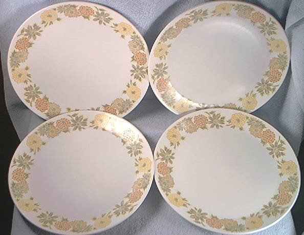 Noritake Progression China Sunny Side Dinner Plates Set Of 4japan