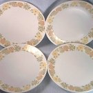 NORITAKE PROGRESSION CHINA SUNNY SIDE DINNER PLATES ~SET OF 4~JAPAN~9003~10 1/3 inch