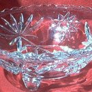 ANCHOR HOCKING EAPC EARLY AMER PRESCUT 3-TOED BOWL~ c.1960's~perfect
