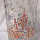 WALT DISNEY WORLD 25TH ANNIVERSARY GLASS ~1996~DONALD DUCK~REMEMBER THE MAGIC