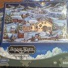 MEGA JIGSAW PUZZLE ~BONNIE WHITE~SNOWY CHRISTMAS DAY ~SNOWMAN ~COMPLETE