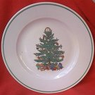 BADCOCK CHRISTMAS TREE DINNER PLATE ~10.25 IN~ADVERTISING~flaw