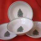 BADCOCK CHRISTMAS TREE SOUP/CEREAL BOWL SET OF 4~ 6.75 INCH