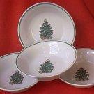 BADCOCK CHRISTMAS TREE SOUP/CEREAL BOWL SET OF 4~ 6.75 INCH