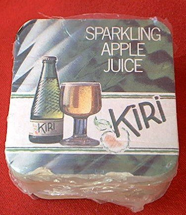 SPARKLING APPLE JUICE ADVERTISING COASTER PACKET ~APPROX 50 COUNT~MINT ...