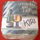KIRI SPARKLING APPLE JUICE ADVERTISING COASTER PACKET ~APPROX 50 COUNT~MINT -UNUSED