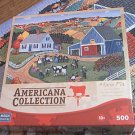 MEGA AMERICANA COLLECTION JIGSAW PUZZLE ~MARIE FOX~MY COW'S A CHAMP~500 COMPLETE~FOLK ART