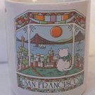 SAN FRANCISCO CA SOUVENIR SMALL MUG ~VIEW OF BRIDGE ~CAT