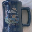 NORTH CAROLINA SOUVENIR SMALL MUG SHOT GLASS TOOTHPICK HOLDER~BLUE~LIGHTHOUSE