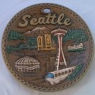 SEATTLE WASHINGTON SOUVENIR PLATE~JAPAN~SPACE NEEDLE~MT RAINIER