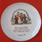VINTAGE 1974 HOLLY HOBBIE CHRISTMAS COMMEMORATIVE PLATE-10.5 IN-EXCELLENT CONDITION