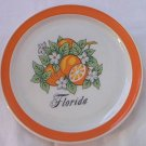 FLORIDA SOUVENIR PLATE ORANGES JAPAN CARRIB~6 IN