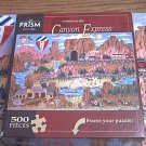 PRISM 500 PC JIGSAW PUZZLE ~ANTHONY KLEEM~CANYON EXPRESS~COMPLETE~TRAIN CANOE BALLOONS