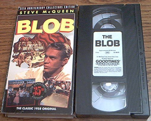 THE BLOB~VHS~STEVE MCQUEEN, ANETA CORSEAUT~1958 ORIGINAL