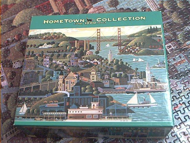 HOMETOWN 1000 COLLECTION JIGSAW PUZZLE~HERONIM WYSOCKI~SAN FRANCISCO~HAS ALL PCS~SHIPS~BRIDGE