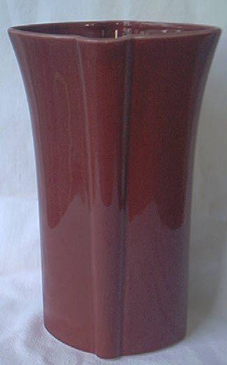 VINTAGE TALL MAROON RED VASE ~8.25 INCH~MADE IN JAPAN~MODERN DESIGN