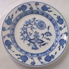 STERLING VITRIFIED CHINA BLUE ONION FLOW BLUE SALAD PLATE~BLUE AND WHITE~1965-66~RESTAURANT