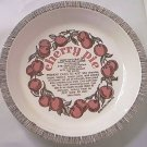 ROYAL CHINA CO CHERRY PIE RECIPE DEEP DISH PIE PLATE ~1983