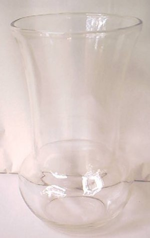 VINTAGE FEDERAL GLASS CO VASE ~F IN SHIELD MARK~CLEAR~c1950s