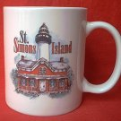 ST SIMONS ISLAND GEORGIA SOUVENIR MUG ~LIGHTHOUSE