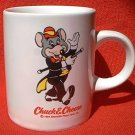 CHUCK E CHEESE SMALL ADVERTISING MUG ~MOUSE~1991~2.75 in