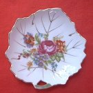 VINTAGE NASCO PORCELAIN LEAF DISH ~MADE IN JAPAN~GOLD TRIM~PRETTY
