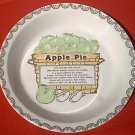 APPLE PIE RECIPE BAKING DEEP DISH PIE PLATE~ c.1980's