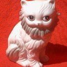 SEATED CAT PORCELAIN FIGURINE ~3 1/2 IN~KOREA