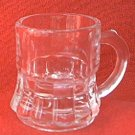 VINTAGE CLEAR GLASS MUG SHOT GLASS ~ 2 IN