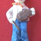 VINTAGE BOY WITH FIDDLE FIGURINE ~MADE IN JAPAN~4.5 IN~HUMMEL TYPE