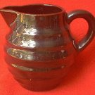 RINGED BROWN CREAMER PITCHER ~MADE IN JAPAN