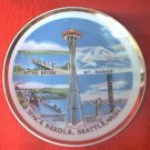 EFCCO SOUVENIR SPACE NEEDLE SEATTLE WASHINGTON  PLATE~JAPAN~GOLD TRIM~4 IN