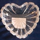MIKASA GLASS ROMANTIC HEART SHAPE TRINKET DISH ~LOVELY