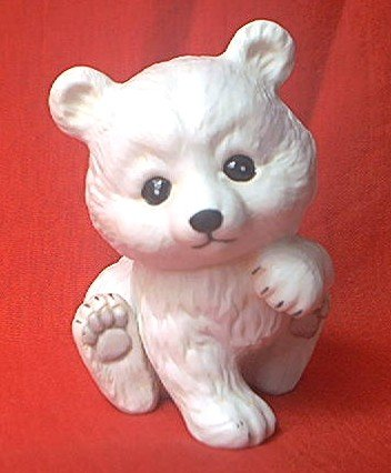 ENESCO MOREHEAD BABY POLAR BEAR FIGURINE ~1984~MEXICO~CUTE!