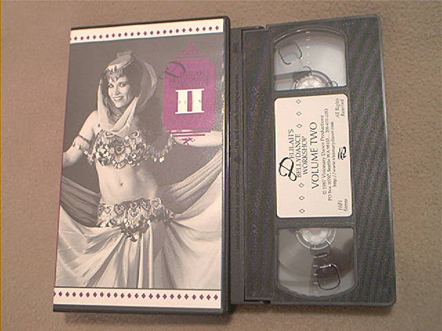 DELILAH'S BELLY DANCE WORKSHOP VOLUME 2~VHS~80 MINS. INSTRUCTION