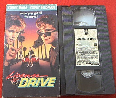LICENSE TO DRIVE~VHS~COREY HAIM, COREY FELDMAN~1988 HTF COMEDY