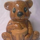 VINTAGE BEAR SHAPE HONEY JAR  POT~ TAIWAN~c1980'S~VERY CUTE