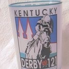 1995 KENTUCKY DERBY COMMEMORATIVE GLASS ~OFFICIAL~AUTHENTIC ~HORSE~THUNDER GULCH