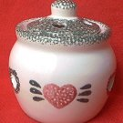 LOOMCO SPONGED HEART CUT OUT POTPOURRI JAR