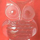VINTAGE VIKING GLASS OWL BOOK END PAPERWEIGHT ~HAS ORIG STICKER~HAND MADE~6 IN