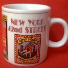 SMALL NEW YORK CITY SOUVENIR MUG ~BIG APPLE~TIMES SQUARE~2.5 in