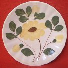 BLUE RIDGE POTTERY BREAD PLATE ~NOCTURNE ~YELLOW FLOWER~6 IN~HAND PTD