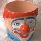RINGLING BROS BARNUM AND BAILEY HARD PLASTIC CIRCUS CLOWN FACE MUG