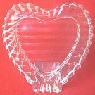 CRYSTAL D ADRIANA HEART SHAPED PHOTO FRAME ~LEAD CRYSTAL~YUGOSLAVIA